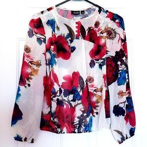 A.n.a. floral blouse top petite PS